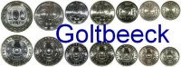 KAZAKHSTAN    Set of 7 coins 2000/10, 1,2,5,10,20,50,100 Thenge (100 bim... 6,00 EUR