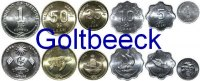 MALDIVES    Set of 6 coins 1984/96, 1, 5, 10, 25, 50 Laari, 1 Rufiyaa UNC 8,00 EUR