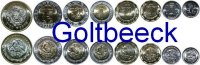 MEXICO    Set of 8 coins 2001/08, 5, 10, 20, 50 Cent. 1, 2, 5, 10 Pesos UNC 10,00 EUR 