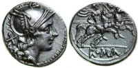 Roman Republic  211 BC. aEF ANNONYMOUS, AR Denarius, Rome/DIOSCURI 220,00 EUR 
