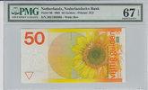 50 Gulden 1982 Netherlands NETHERLANDS P.96 -  1982 PMG 67 EPQ PMG Grad... 200,00 EUR  zzgl. 12,00 EUR Versand