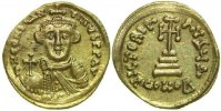 Byzantine Empire  CONSTANS II, AV SOLIDUS, Constantinople/CROSS