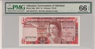 1 Pound 1979 Gibraltar GIBRALTAR P.20b -  1979 PMG 66 EPQ PMG Graded 66... 100,00 EUR  zzgl. 12,00 EUR Versand