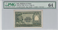 50 Lire 1951 Italy ITALY P.91a -  1951 PMG 64 PMG Graded 64 GEM UNCIRCU... 100,00 EUR  zzgl. 12,00 EUR Versand