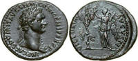 Æ As 95 - 96 AD Imperial DOMITIANUS, Rome/VICTORY & TROPHY vz-  580,00 EUR kostenloser Versand