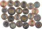 23x DIFFERENT UNC BI-METALLIC COINS unz  76,00 EUR  zzgl. 12,00 EUR Versand
