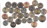 27x DIFFERENT UNC BI-METALLIC COINS unz  90,00 EUR  zzgl. 12,00 EUR Versand
