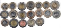 AFRICA 19x DIFFERENT UNC BI-METALLIC COINS unz  62,00 EUR  zzgl. 12,00 EUR Versand