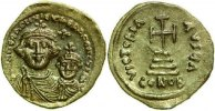 Byzantine Empire  HERACLIUS, AV SOLIDUS, Constantinople/CROSS