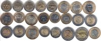 NORTH & SOUTH AMERICA 24x DIFFERENT UNC BI-METALLIC COINS unz  65,00 EUR  zzgl. 12,00 EUR Versand