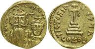 SOLIDUS 654 - 659 AD Byzantine CONSTANS II, AV , Constantinople/CROSS vz  490,00 EUR