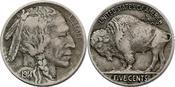 "5 Cent 1914 D USA ""Buffalo"" ss"