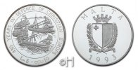 "Malta 5 Liri (10 Ecu) ""430 Years in defence of christian Europe"""