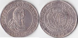 Wechseltaler,  Deutschland, Sachsen,Johann Georg II.,1656-1680, sehr schön-vorzüglich,schöne Patina,