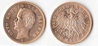 20 Mark Gold, 1900, Deutschland, Kaiserreich,Königreich Bayern, vorzügl... 450,00 EUR  + 5,00 EUR frais d'envoi