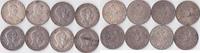 Lot von 8 mal Fünf Mark, 1902-1914, Deutschland, Kaiserreich,Königreich... 176,00 EUR