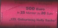25 mal 20 Euro,Originalrolle, 2016, BRD, Nelly Sachs, stempelglanz,  580,00 EUR  + 10,00 EUR frais d'envoi