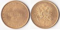 20 Markkaa 1879, Finnland, Alexander II.,1855-1881, vorzüglich ,  450,00 EUR  + 5,00 EUR frais d'envoi