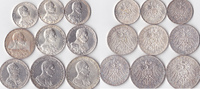 2 Mark-5 Mark,9 Stück, 1913/1914, Deutschland, Kaiserreich,Königreich P... 200,00 EUR  + 5,00 EUR frais d'envoi