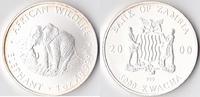 5000 Kwacha, 2000, Sambia Eine Unze Silber, st.,  80,00 EUR  + 3,50 EUR frais d'envoi
