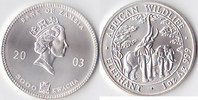 5000 Kwacha, 2003, Sambia Eine Unze Silber, st.,  80,00 EUR  + 3,50 EUR frais d'envoi