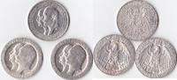 3 mal Drei Mark, 1910,1911, Deutschland, Kaiserreich,Königreich Preusse... 195,00 EUR  + 5,00 EUR frais d'envoi