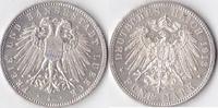 5 Mark,Prachtexemplar, 1913, Deutschland, Lübeck,Freie und Hansestadt, ... 1220,00 EUR  + 10,00 EUR frais d'envoi