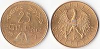 25 Schilling, 1931,Wien, Österreich,  vz-st.,  255,00 EUR  + 5,00 EUR frais d'envoi