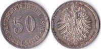 50 Pfennig Silber, 1876 B., Deutschland, Kaiserreich, prägefrisch,  110,00 EUR  + 5,00 EUR frais d'envoi