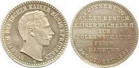 Silbermedaille 1888 Hamburg, Stadt  vorzüglich-Stempelglanz  35,00 EUR  zzgl. 5,00 EUR Versand