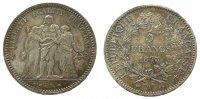 5 Francs 1873 Frankreich Ag Herkulesgruppe, A (Paris) vz  33,50 EUR  zzgl. 3,95 EUR Versand