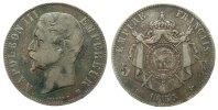 5 Francs 1855 Frankreich Ag Napoleon III,  tête nue, BB (Strasburg) sch... 56,50 EUR  zzgl. 6,00 EUR Versand