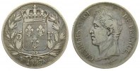 5 Francs 1827 Frankreich Ag Charles X, W (Lille) ss-  80,00 EUR