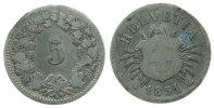5 Rappen 1851 Schweiz Billon HMZ 1211, BB, selten gutes schön  225,00 EUR  zzgl. 6,00 EUR Versand