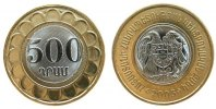 Armenien - Armenia 500 Drams Bi-Met Wappen