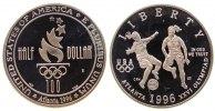 1/2 Dollar 1996 USA KN Damenfußball, Atlanta, S, ohne Box und ohne Zert... 56,50 EUR  zzgl. 6,00 EUR Versand