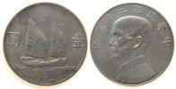 1 Dollar 1934 China Ag Sun Yat Sen, Dschunke, L&M 110 ss+  105,00 EUR  zzgl. 6,00 EUR Versand