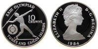 10 Crowns 1984 Turks+Caicos Ag Olympiade, Speerwerfer pp  39,50 EUR  zzgl. 3,95 EUR Versand