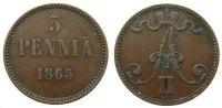 5 Pennia 1865 Finnland Ku Alexander II. von Rußland (1855-1881) ss-  45,00 EUR  zzgl. 3,95 EUR Versand