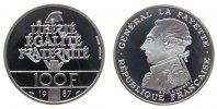 100 Francs 1987 Frankreich Ag Lafayette pp  33,50 EUR  zzgl. 3,95 EUR Versand