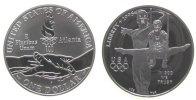 1 Dollar 1995 USA Ag Turner an Ringen Atlanta, P, ohne Box und ohne Zer... 35,00 EUR  zzgl. 3,95 EUR Versand