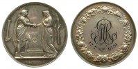Frankreich Silbermedaille Silber Liebe und Ehe, v. Montagny F., kleiner Randfehler, ca. 34 MM, Patina