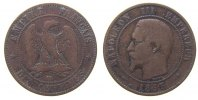 Frankreich - France 10 Centimes Br Napoleon III, BB (Strasbourg)