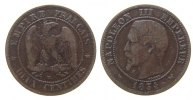 Frankreich - France 2 Centime Br Napoleon III, W (Lille)