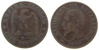 Frankreich - France 5 Centimes Br Napoleon III, BB (Strasbourg)