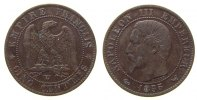 Frankreich - France 5 Centimes Br Napoleon III, W (Lille), Anker