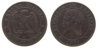 Frankreich - France 2 Centimes Br Napoleon III, BB (Strasbourg)