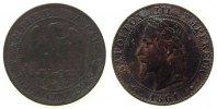 Frankreich - France 2 Centimes Br Napoleon III, BB (Strasbourg), etwas korrodiert