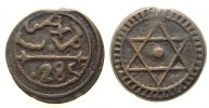 Marokko - Morocco 4 Falus Br Sidi Mohammed IV, AH1285, Marrakesh, Valentine 135 var.