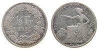 1/2 Franken 1851 Schweiz Ag HMZ 1206 schön  45,00 EUR  zzgl. 3,95 EUR Versand